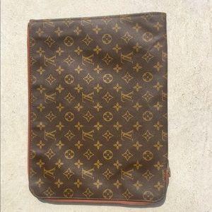 Louis Vuitton Brown Leather Portfolio Laptop Case